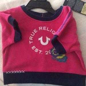 New True Religion fushia dolman top 12 Months